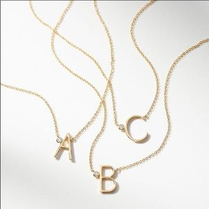 NWT ANTHROPOLOGIE Gold Monogram Necklace Letter P